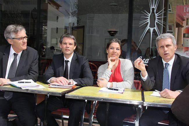 Rapporchement centre (philippe Lailler, Rodolphe Thomas, Sonia de La Provoté, Joël Bruneau)